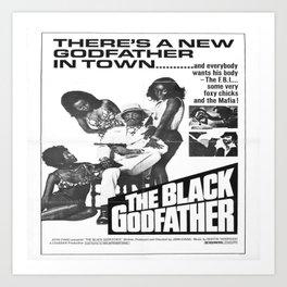 The Black Godfather Art Print