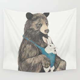 the bear au pair Wall Tapestry