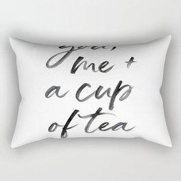 You, Me + A cup of tea Rectangular Pillow