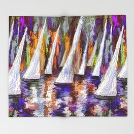 Sails To-Night Throw Blanket