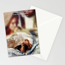 The Nativity in depth of field Stationery Cards