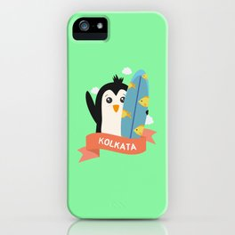 Penguin Surfer from Kolkata T-Shirt for all Ages iPhone Case