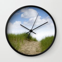 Trail over the Dune to the Summer Beach Wall Clock