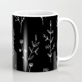 New Black Wildflowers Coffee Mug
