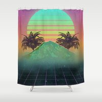 80s Shower Curtains featuring 80s love by Mikuloctopus