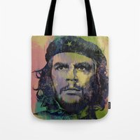 che Tote Bags featuring Che Guevara by Michael Creese