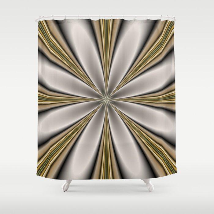Fractal Flower in CMR 01 Shower Curtain