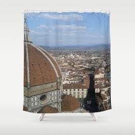 Firenze From Above Shower Curtain