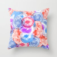 geode Throw Pillows featuring Geode Flavor by Tyler Spangler