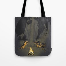 Let's settle it - in the shadows.  Tote Bag