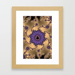 Elegant Purple Mandelbrot Fractal Print Framed Art Print