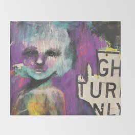 Right turn only Throw Blanket