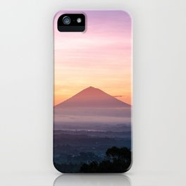 pink volcano iPhone Case