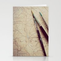 journey Stationery Cards featuring Journey by messy bed studio