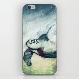 Flying Green Sea Turtle iPhone Skin