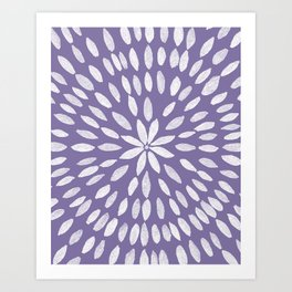 Mandala Flower #4 #UltraViolet #drawing #decor #art #society6 Art Print