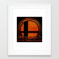 smash bros Framed Art Prints featuring Super Smash Bros.  by Donkey Inferno