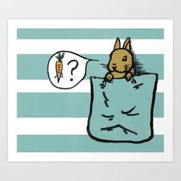 Pocket Bunny Art Print