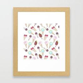Like ice cream 1. Framed Art Print