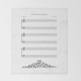 The Sound of Silence (Mono) Throw Blanket