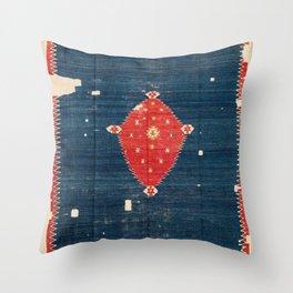 Balikesir  Antique Turkish Kilim Rug Print Throw Pillow