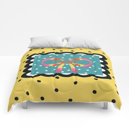 Sunny Yellow and Black Gift Comforters