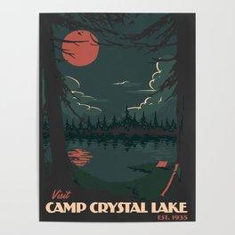 Visit Camp Crystal Lake Poster