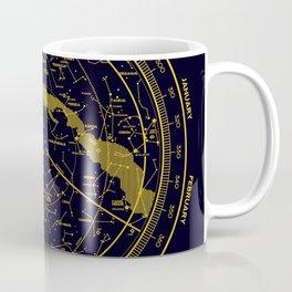 STARMAP 1 blue & gold Coffee Mug