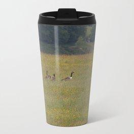 Canadian Geese in an English Meadow Travel Mug