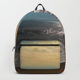 Golden Sky Over The Ocean Backpack