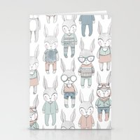 bunnies Stationery Cards featuring BUNNIES by Catalina Graphic