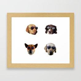 Cool Dogs Framed Art Print