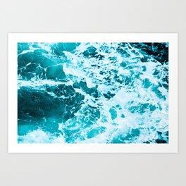 Deep Turquoise Sea - Nature Photography Art Print