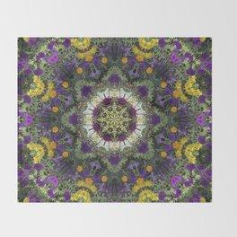 Summer Floral Jewels Kaleidoscope Throw Blanket