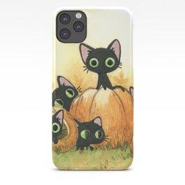 Black cats and pumpkins iPhone Case