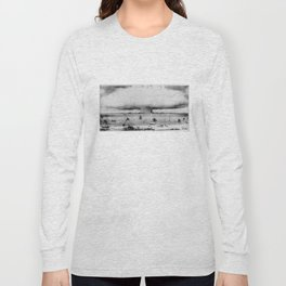 Atomic Bomb Mushroom Cloud Operation Crossroads Baker Test Long Sleeve T-shirt