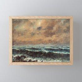 Autumn Sea (Courbet 1867) Framed Mini Art Print