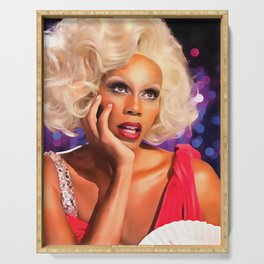 Rupaul Dragrace in Red Serving Tray