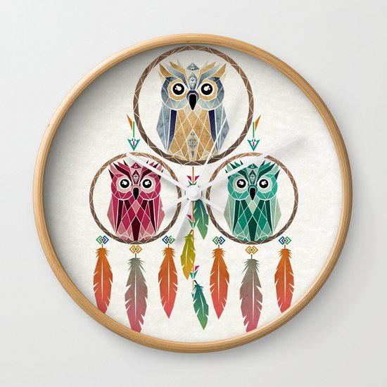 dream owl Wall Clock