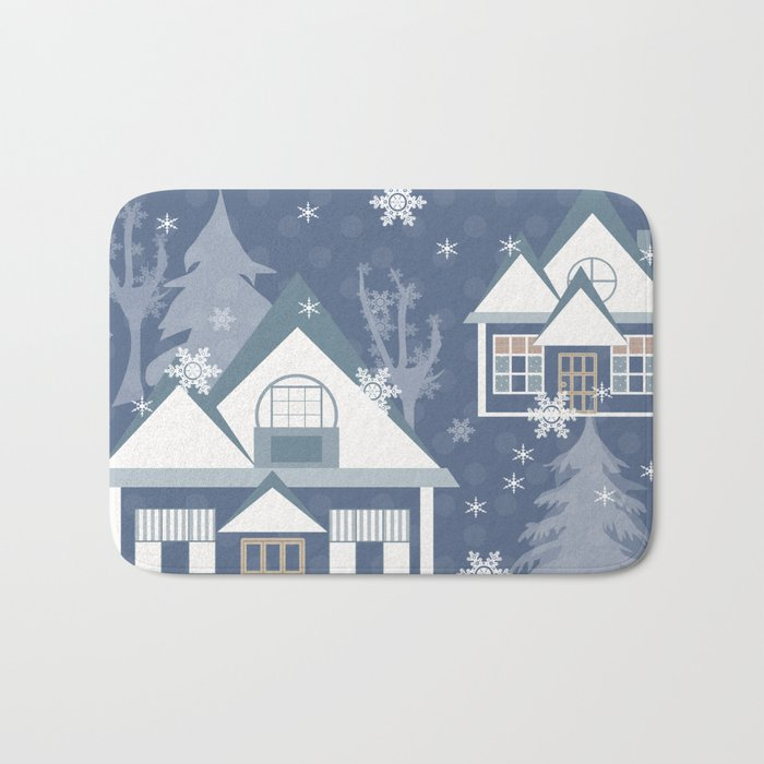 "A series of ""Covers for notebooks"" . Winter . Christmas holidays . Bath Mat"