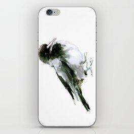 Crow, hooded crow art design iPhone Skin