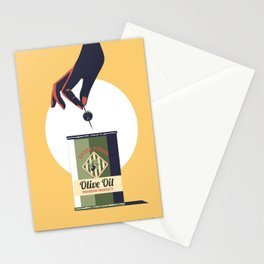 Olive oil vintage poster greece Stationery Cards