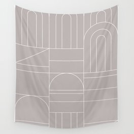 Deco Geometric 04 Grey Wall Tapestry