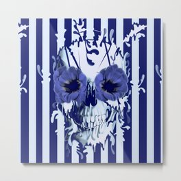 Limbo in navy color palette Metal Print