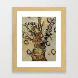 G is for Genes Framed Art Print