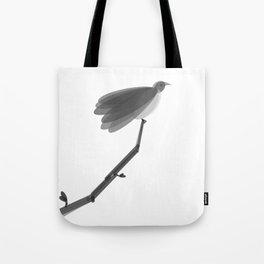 Spring Bird Black & White Tote Bag