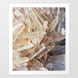 Sparkly Clear Magical Unicorn Crystal Shards Art Print