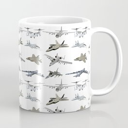 US Military Airplanes Coffee Mug