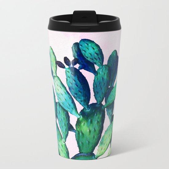 Cactus Three Ways #society6 #decor #buyart Metal Travel Mug