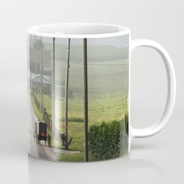 Amish Buggy confronts the Modern World Coffee Mug
